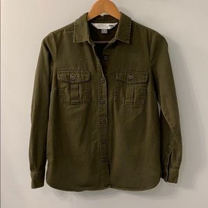 "Old Navy ""The Classic Shirt"" Army Green XS"